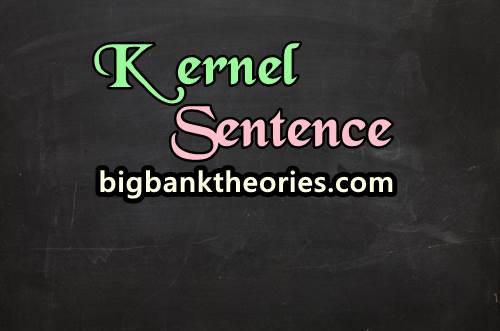 Contoh Kernel Sentence