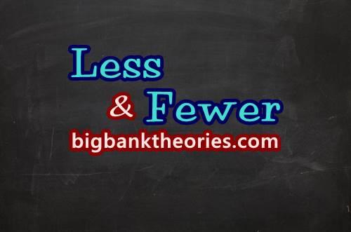 Contoh Penggunaan Kata Less Dan Fewer Dalam Kalimat