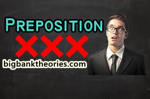 Kesalahan Dalam Menggunakan Preposition