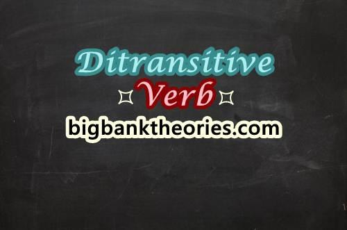 Ditransitive Verbs Dalam Bahasa Inggris