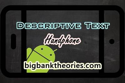 Descriptive Text Bahasa Inggris Tentang Handphone