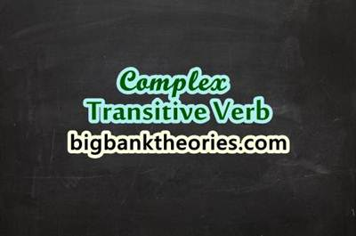 Complex Transitive Verb In English