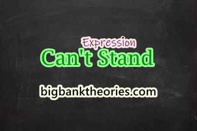 The Meaning of Can't Stand In English