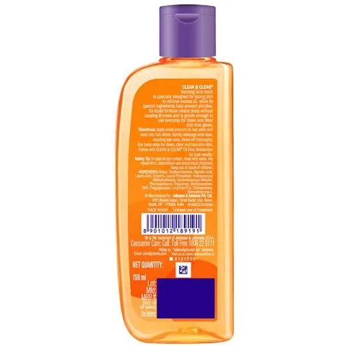 Buy Clean Clear Face Wash Foaming 150 Ml Online At Best Price Bigbasket