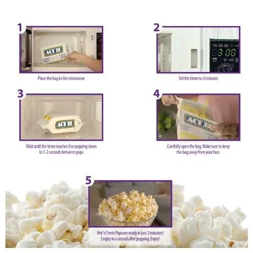 act ii microwave popcorn cheese delite 106 g