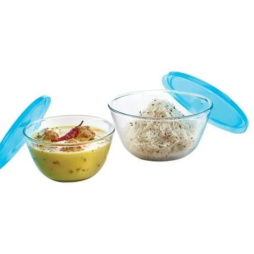 borosil borosilicate select glass mixing bowl with lid oven microwave safe 500 ml 1 3 l set of 2