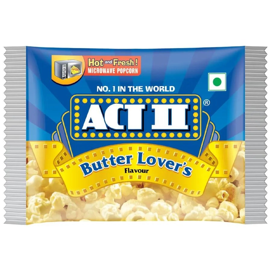 act ii microwave popcorn butter lover s 99 g pouch