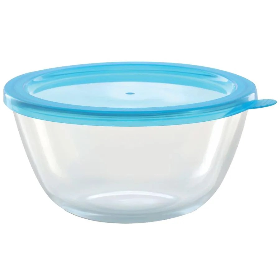 borosil borosilicate select glass mixing bowl with blue lid oven microwave safe 900 ml