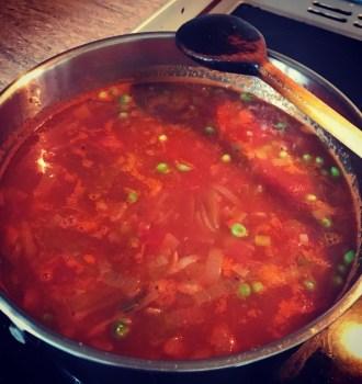 Spanish(ish) Fish Soup
