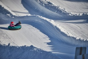 Tubing in Snow