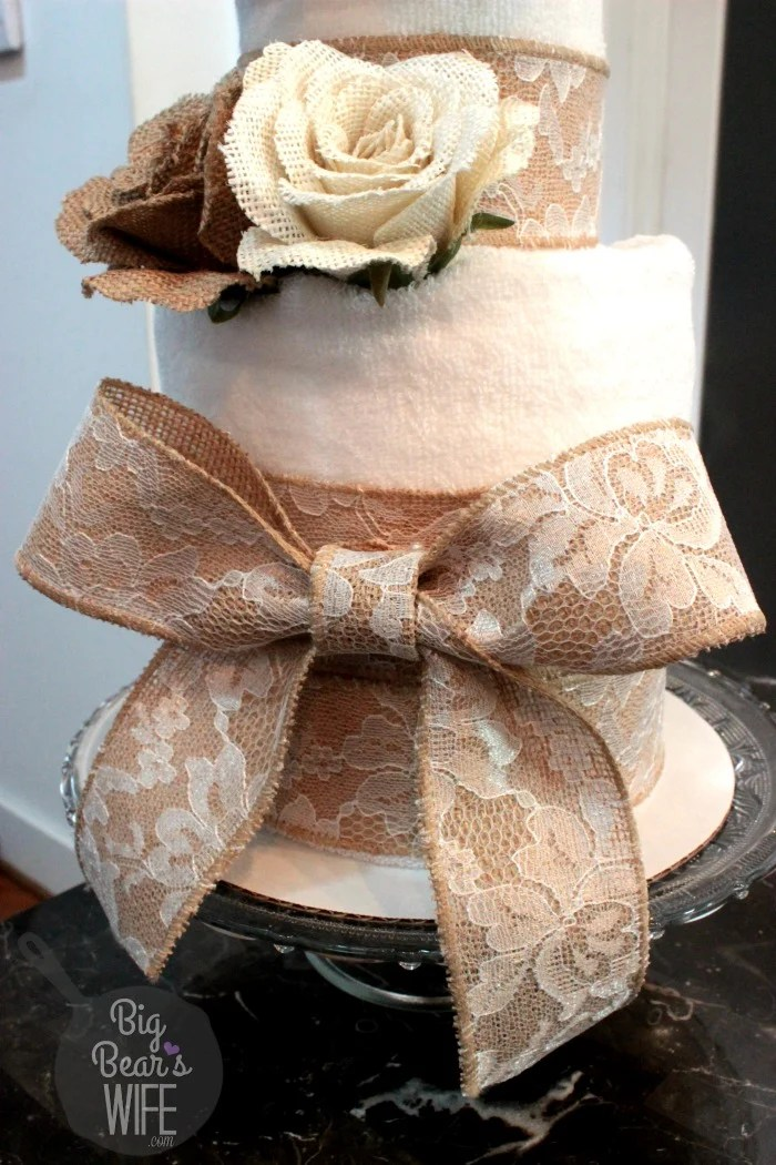 How To Make A Towel Cake For A Bridal Shower Big Bears Wife
