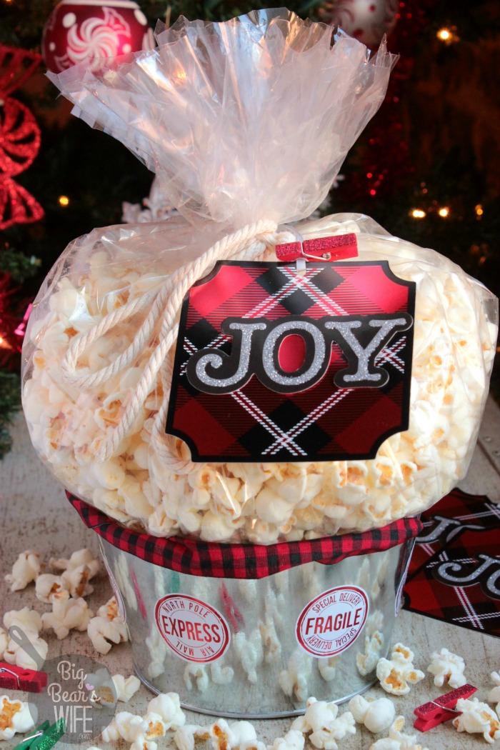 Popcorn Gift Basket Amp Gift Card Holder Idea Big Bears Wife