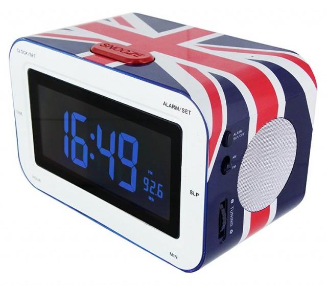 Cd Player Radio Alarm Red Clock