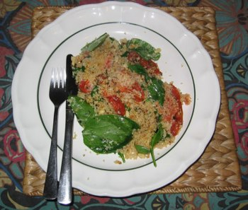 Baked couscous