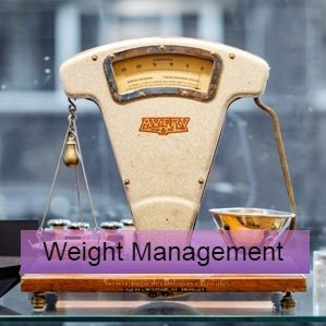 a pair of scales - research and guidelines on weight management