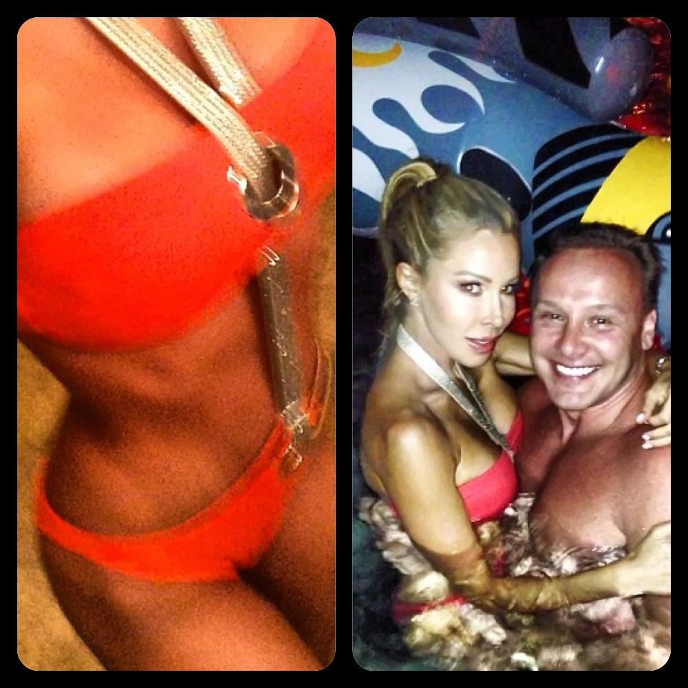 Lisa Hochsteins Instagram Red Chain Monokini Big Blonde