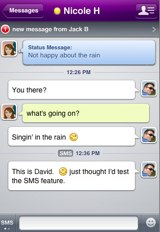 Yahoo! Messenger for iPhone chat