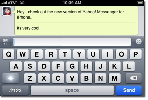 Yahoo! Messenger for the iPhone