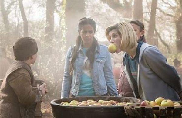 The Doctor loves apple bobbing