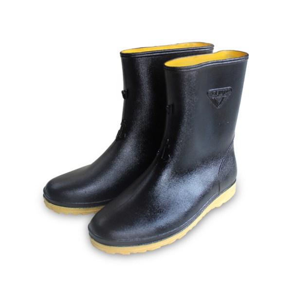 รองเท้าบู๊ตสั้น 222B สูง 10 นิ้ว สีดำ