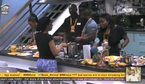 Kemen And Bisola Win The Indomie Noodles Cooking Task