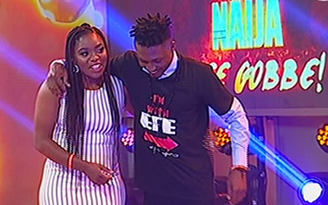 Big Brother Naija 2017 Grand Finale: Efe Ejeba And Bisola On Stage