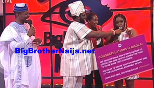 Big Brother Naija 2017 Grand Finale: Bisola Aiyeola Wins The ONE campaign