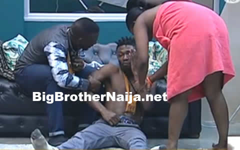Big Brother Naija 2017 Day 70: Bisola Makes Fun Of Efe's Behaviour After He Got Drunk