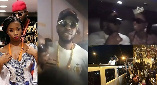 Evicted Housemates Teddy A and Bambam Arrive Back In Lagos, Nigeria