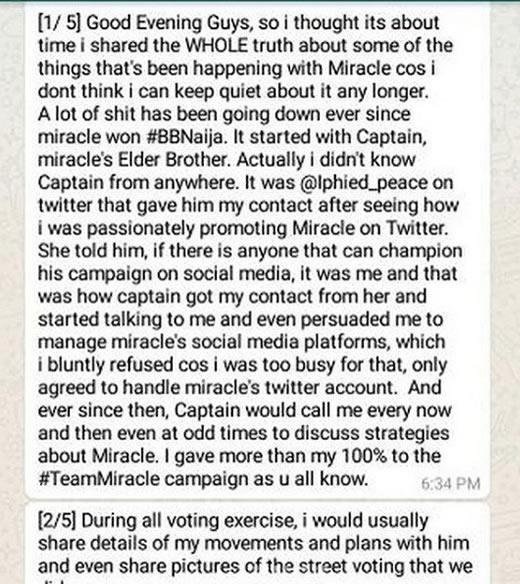 Miracle Ikechukwu dumps Tweet Oracle