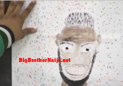 Ike Portrait Painting Big Brother Naija 2019