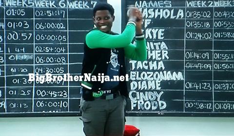 Seyi wins week 6 Head of House title