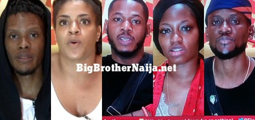 Big Brother Naija 2019 Week 10 Nominated Housemates, Elozonam, Venita, Frodd, Khafi, Omashola