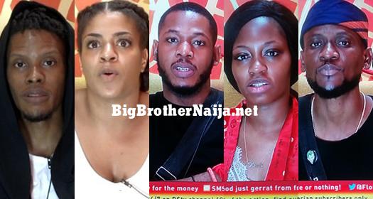 Big Brother Naija 2019 Week 10 Nominated Housemates, Elozonam, Venita, Frodd, Khafi, Omashola