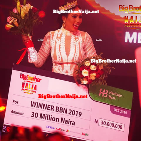 Mercy Eke Receives 30 Million Naira Cheque After Winning Big Brother Naija 2019