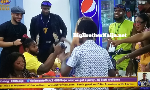 Prince Nelson Enwerem birthday celebrations on BBNaija 2020 day 14