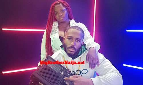 Dorathy and Kiddwaya of Team Quadcam Win the OPPOgraphy task on day 49 of Big Brother Naija season 5