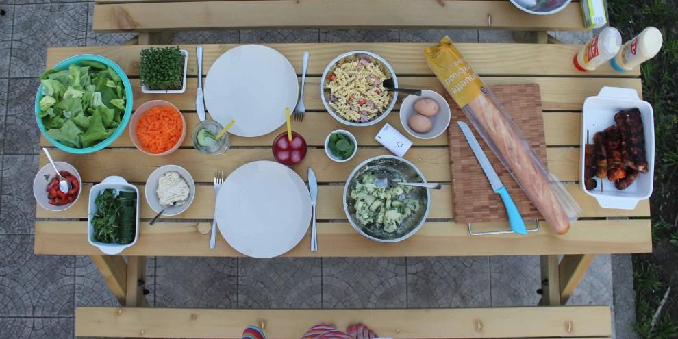 globaal beeld Emob picknicktafel