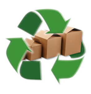 Recyclable corrugated boxes