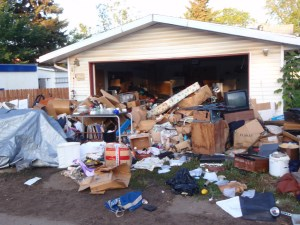 junk pileup in garage