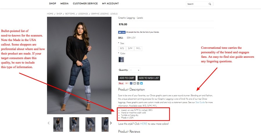How To Write Product Descriptions That Sell  Examples   Template  onzie