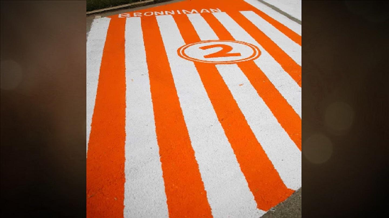 Brownwood senior paints Whataburger parking spot