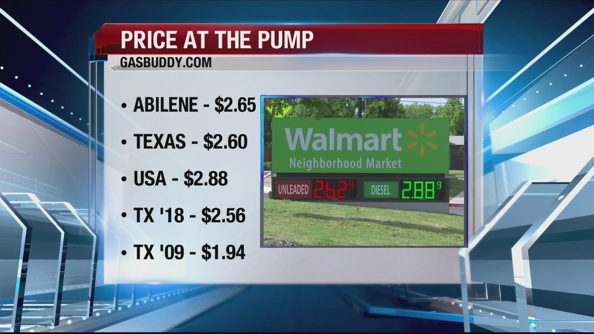 Walmart Gas Prices Near Me >> Gas Prices Ktab Bigcountryhomepage Com