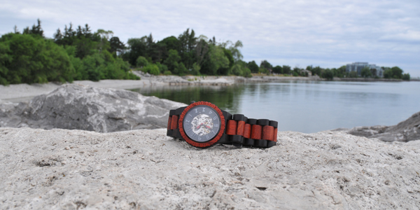 jord wood watches by lake