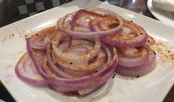 daal roti onions