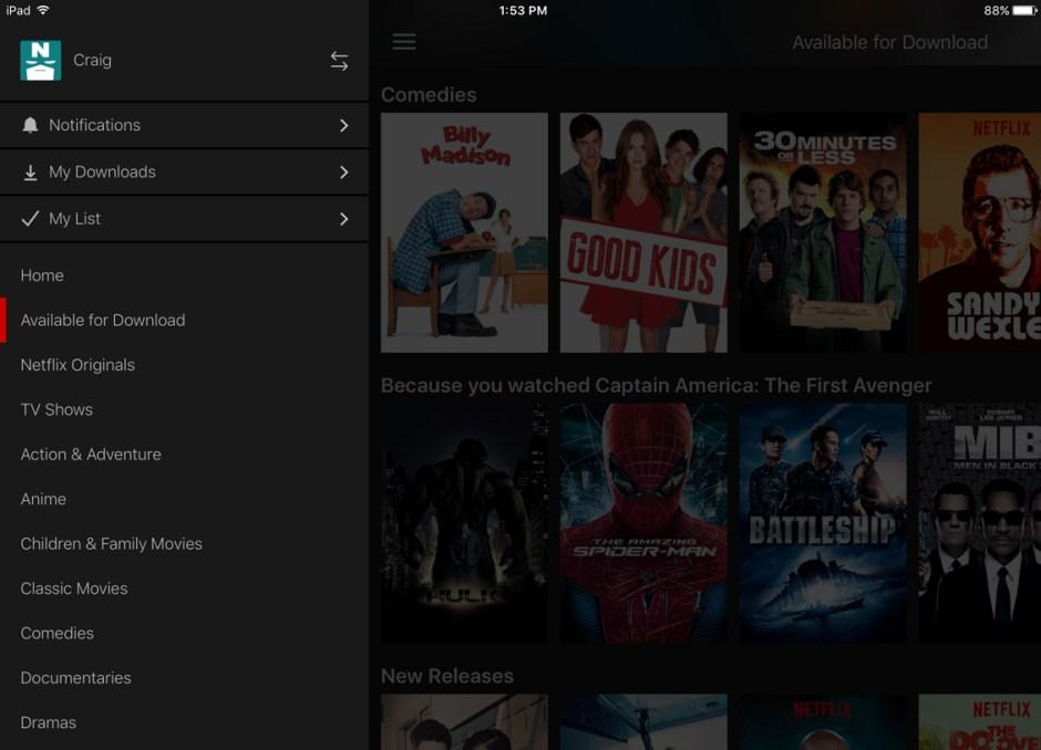 download netflix my download screen