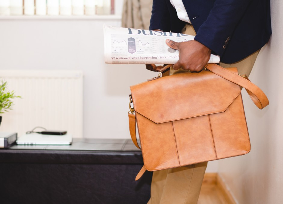 style leather briefcase