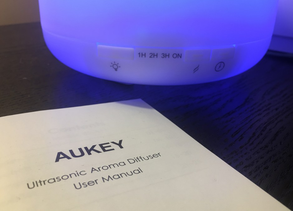 Essential Oil Diffuser settings and manual