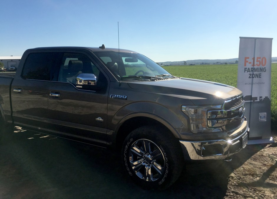 farm f150 at carrot crop