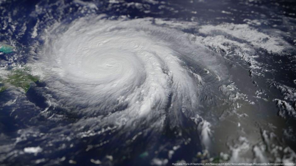 Dominica Hurricane Maria 2017 satellite image